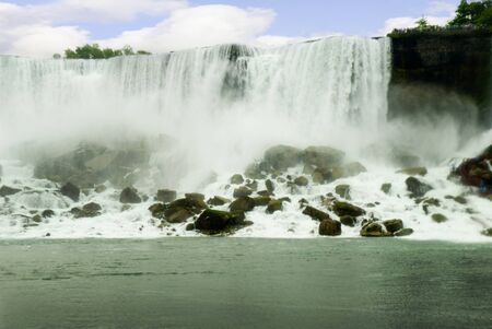 Niagara Rainbow Falls USA and Canada Border photo