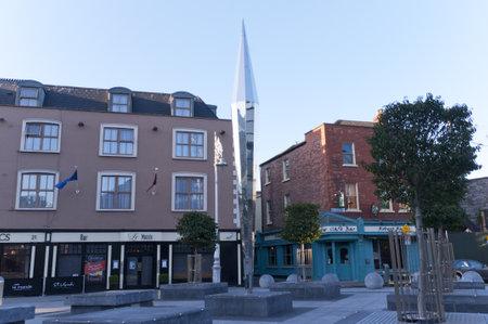 Quiet square in Dublin Ireland