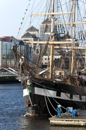 emigrant: Emigrant or Famine Ship for the New World, Dublin Ireland Editorial
