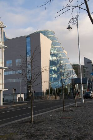 conference centre: Modern Conference Centre on Quayside of River Liffey in Dublin Ireland Editorial