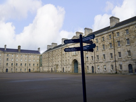 barracks: Collins Barracks now a museum in the City of Dublin Irleand