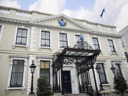 The Official Home of the Mayor of Dublin, the Mansion House in Dublin City Ireland
