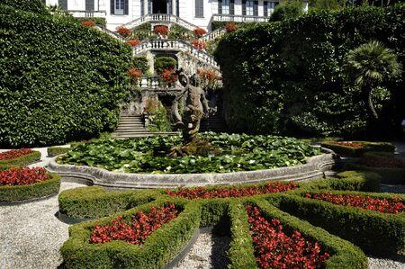 bellagio: Beautiful Garden on Lake Como Italy Stock Photo