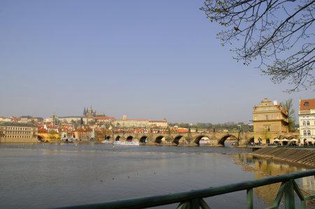 Moldau in Prag, Tschechische Republik Europa