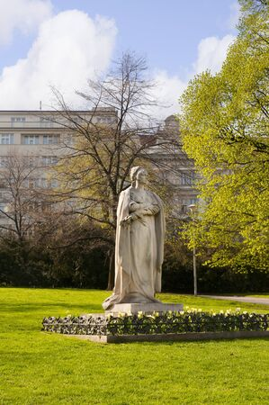 Statue in grounds of National Museum in Wenceslas Square in Prague, Czech Republic Europe Stock Photo - 12240347