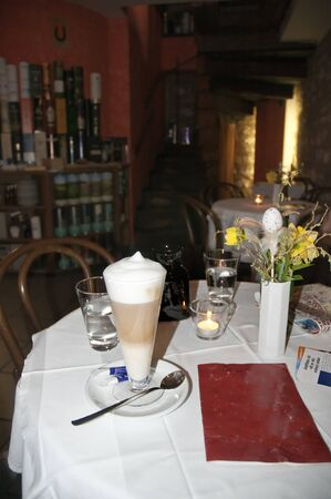 Cafe Latte in Prague Stock Photo - 12240417