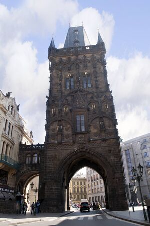 Powder tower  in Prague, Czech Republic Europe