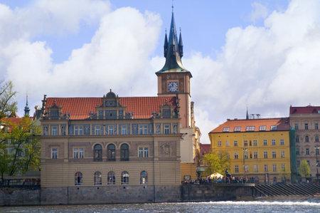 Smetana Museum on Banks of the Rver Vltava in Prague