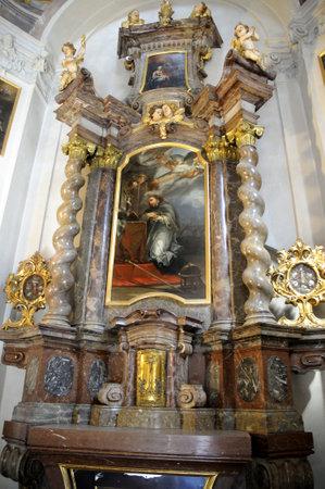 Church altar in Prague Czech Republic