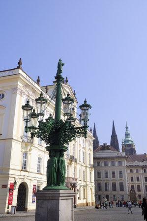 Lamppost in Prague Czech Republic