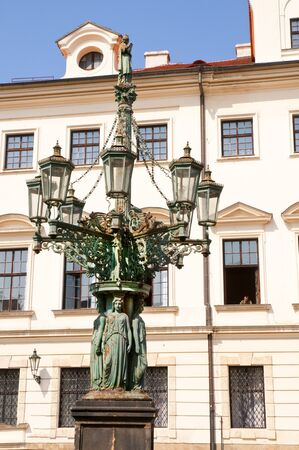 Lamppost in Prague Czech Republic