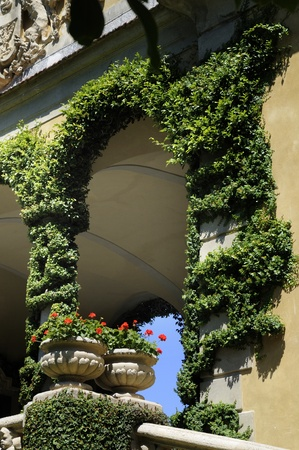Beautiful Garden on Lake Como Italy Stock Photo