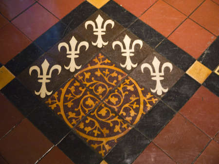 Medieval Floor Tiles in St Patricks Anglican Cathedral in Dublin Ireland