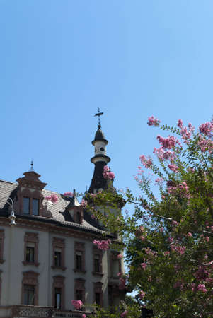 triptych: Cathedral in Bolzano in the Italian Tirol in Northern Italy