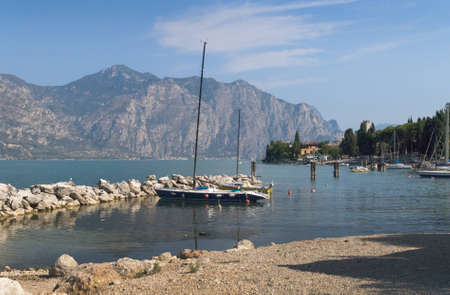 Malcesine on Lake Garda in Northern Italy