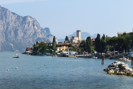 Malcesine on Lake Garda in Northern Italy Stock Photo
