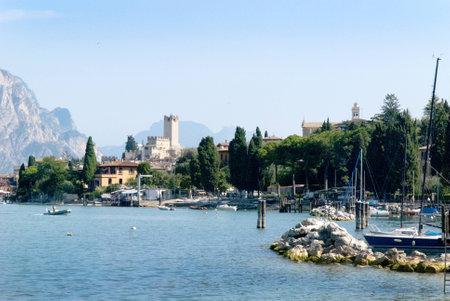 garda: Malcesine on Lake Garda in Northern Italy Editorial