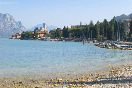 Malcesine on Lake Garda in Northern Italy photo
