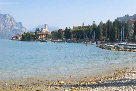 garda: Malcesine on Lake Garda in Northern Italy Stock Photo