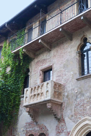 romeo and juliet: Juliets balcony in Verona  a city in Northern Italy which features in Shakespeare s tragedy Romeo and Juliet