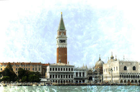 gondoliers: The Grand Canal in Venice Italy