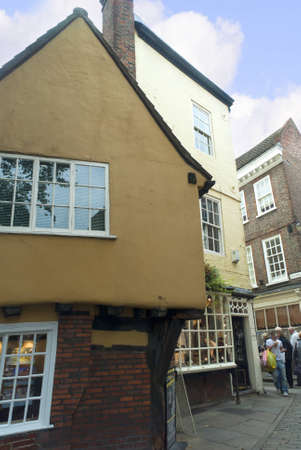 shambles: The Shambles, an area of Medieval Shops and Buildings in York England