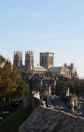The City Walls and York Minster England