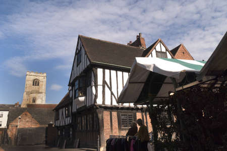 The Medieval Shambles a shopping area in the city of York England