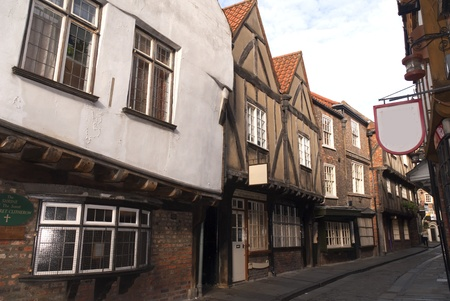 perpendicular: The Medieval Shambles a shopping area in the city of York England