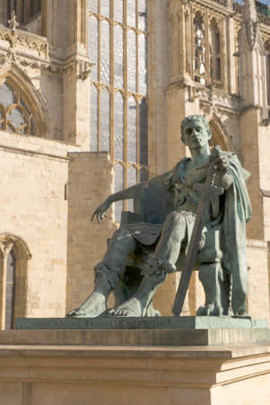 constantine: Statue of  Roman Emperor Constantine who was bor in York and became the first Christian Emperor Editorial