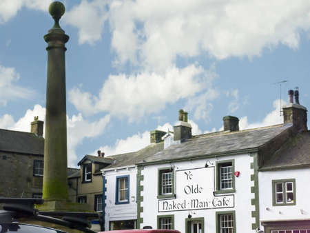 settle: Centre of Market Town of Settle in North Yorkshire England