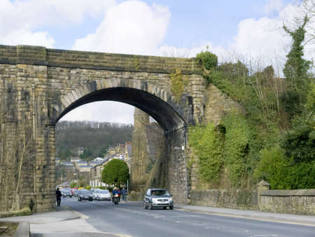 wensleydale: Settle Viaduct on the Settle to Carlisle Railway in the Yorkshire Dales England Editorial