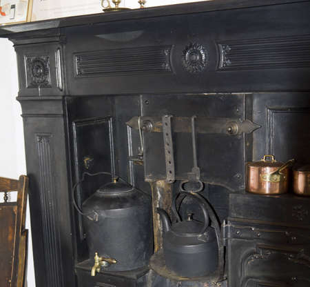 wensleydale: OldFireplace in the Yorkshire Dales England