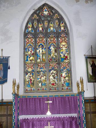 wensleydale: St Margarets Iglesia en el pueblo de Hawes en la Inglaterra de Yorkshire Dales Editorial