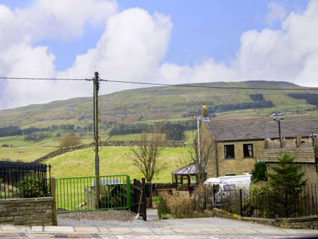 wensleydale: Village of Hawes in the Yorkshire Dales England Editorial