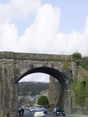 settle: Settle Viaduct on the Settle to Carlisle Railway in the Yorkshire Dales England Editorial