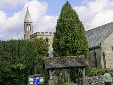 settle: Settle Parish Church in North Yorkshire England