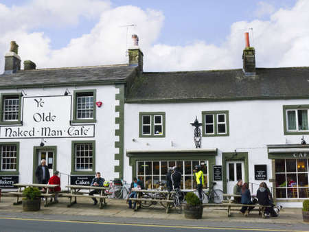 Centre of Market Town of Settle in North Yorkshire England