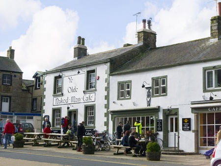 wensleydale: Centre of Market Town of Settle in North Yorkshire England