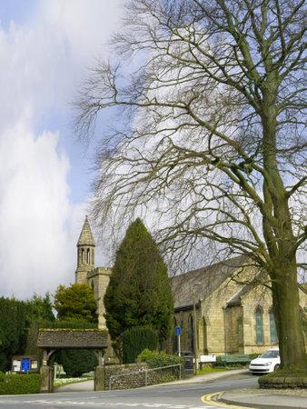 wensleydale: Settle Parish Church in North Yorkshire England
