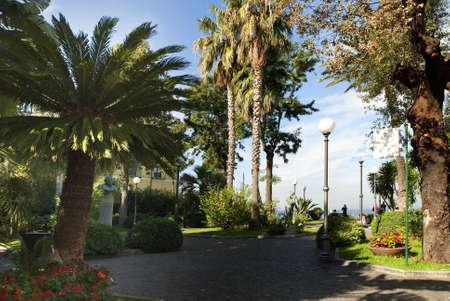 Statue in Park in Sorrento Public garden Italy photo