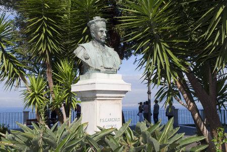 curtis: Statue in Park in Sorrento Public garden Italy