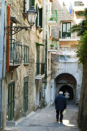 Walking down to Marina Grande the old fishing port of Sorrento in Southern Italy