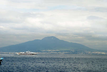 curtis: Mount Vesuvius and the Bay of Naples in Campania Italy