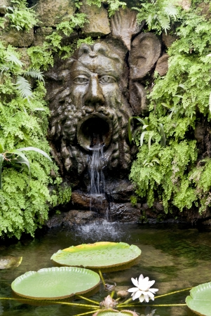 sirens: Stunning Tropical Garden on the Volcanic Island of Ischia in the Bay of Naples Ital Stock Photo