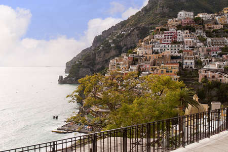 Positano on the Amalfi Coast in Campania Italy