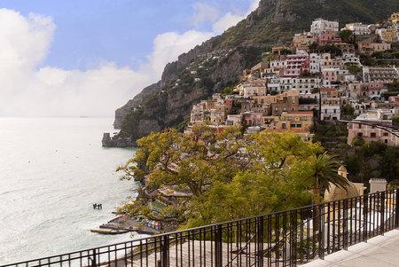 Positano on the Amalfi Coast in Campania Italy Stock Photo - 12533269