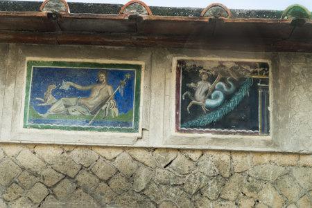 Villas in the Buried Roman City of Herculaneum Italy