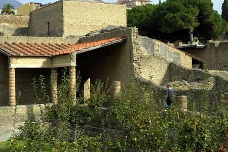 Villas in the Buried Roman City of Herculaneum Italy Stock Photo - 12533236