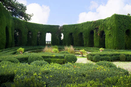 Typical Italianate villa and garden in Settignano Tuscany italy